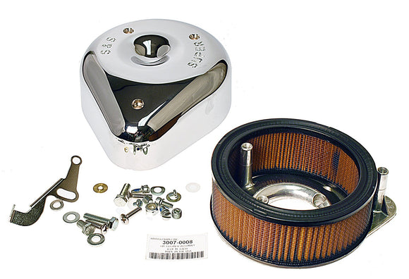 S & S SUPER E & G AIR CLEANER ASSEMBLY. FITS 1966-1984 BIG TWIN. - Rivera Primo