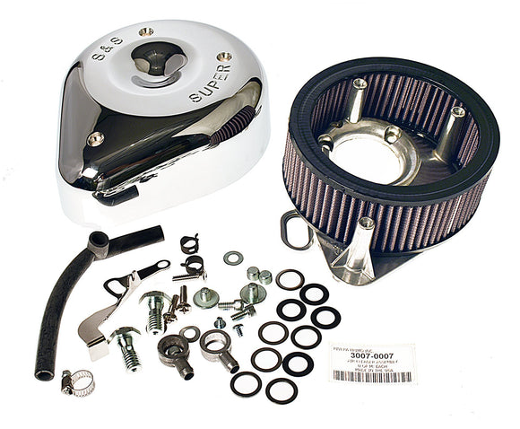 S & S SUPER E & G AIR CLEANER ASSEMBLY. FITS 1993-1999 BIG TWIN. - Rivera Primo