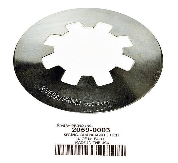 Spring, Diaphragm Silver - All Pro Clutch Versions - Rivera Primo