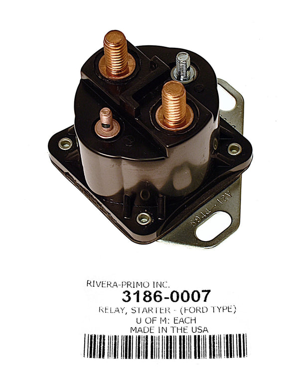 STARTER RELAY. FITS 1973-85 MOST XL & FX MODELS. (FORD TYPE). - Rivera Primo