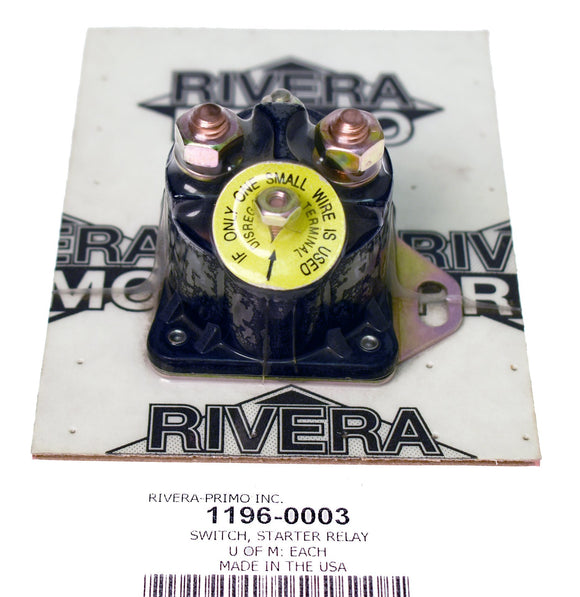 STARTER RELAY SWITCH 1973-85 MOST MODELS. - Rivera Primo