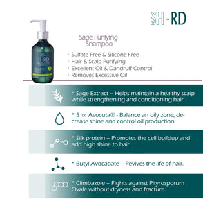 SH-RD Sage Purifying Shampoo (6.76oz/200ml)