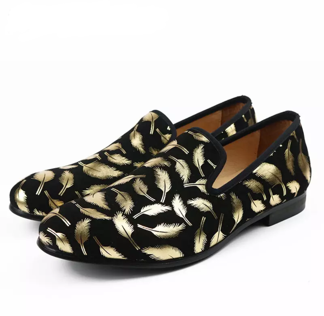Men's Golden Feather Loafers - Swank & Swagger