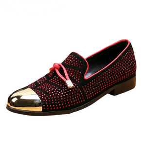 Men's Studded Suede Loafers - Swank & Swagger