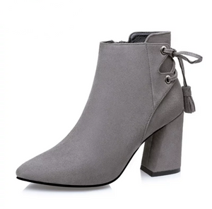 Women's Back Lace Ankle Boots - Swank & Swagger