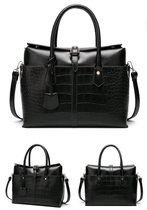 Alligator Embossed Luxury Handbag - Swank & Swagger