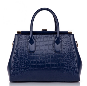 Genuine Leather Alligator Embossed Luxury Handbag - Swank & Swagger