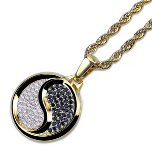 Yin Yang Pendant Necklace - Swank & Swagger