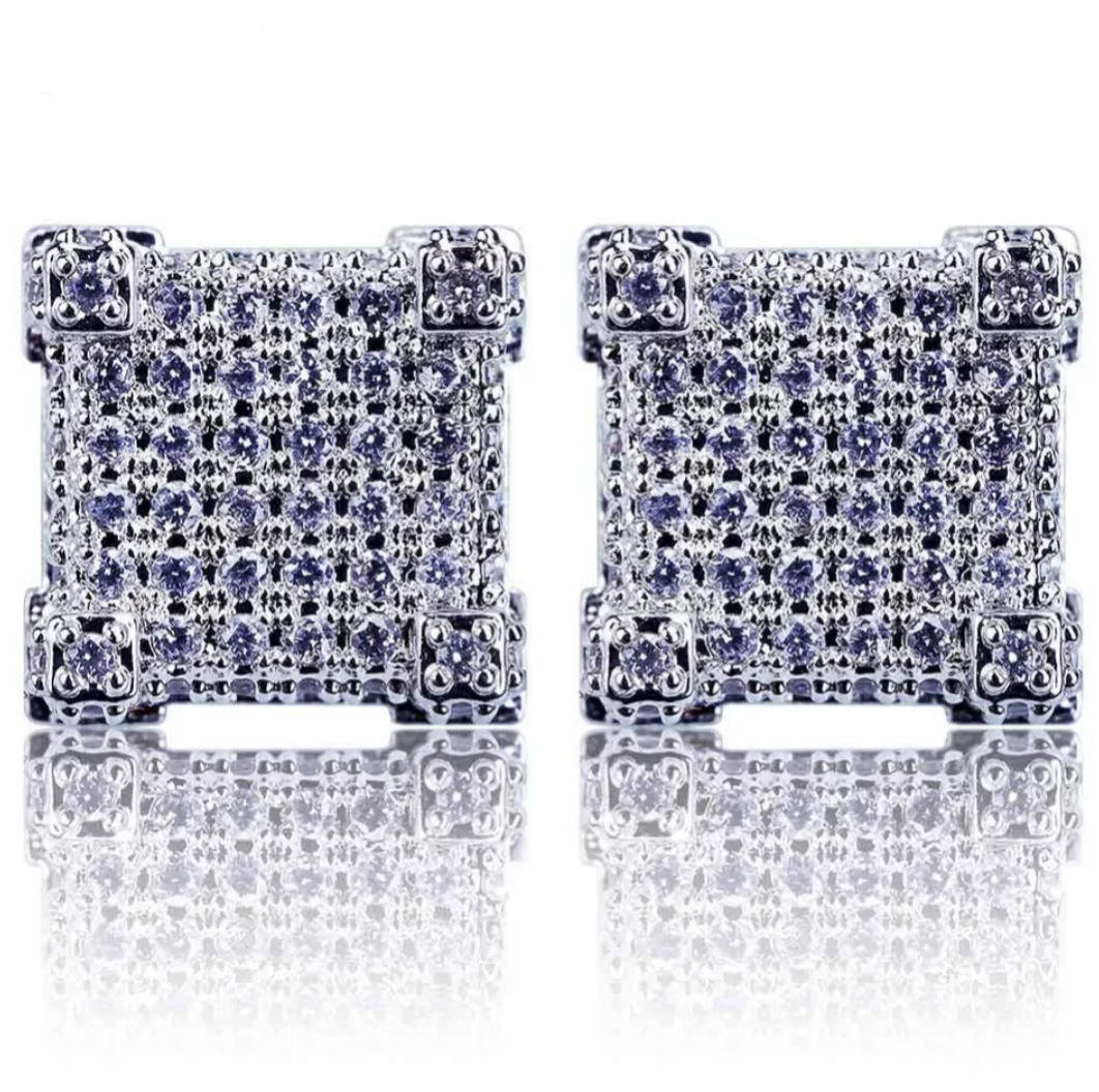 CZ Stud Earrings - Swank & Swagger