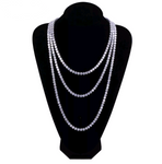 CZ Diamond Tennis Chain Necklace - Swank & Swagger