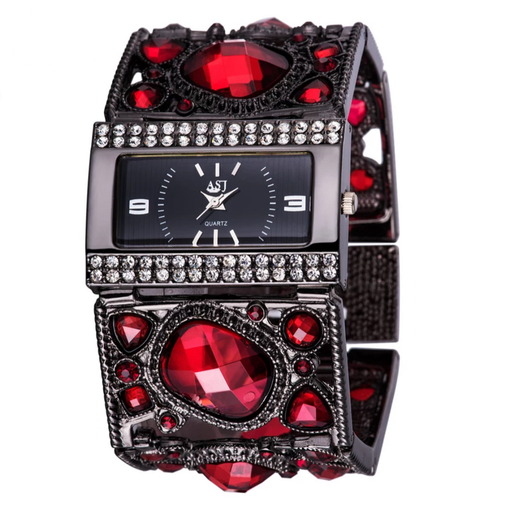 Luxury Designer Gemstone Wristwatch - Swank & Swagger
