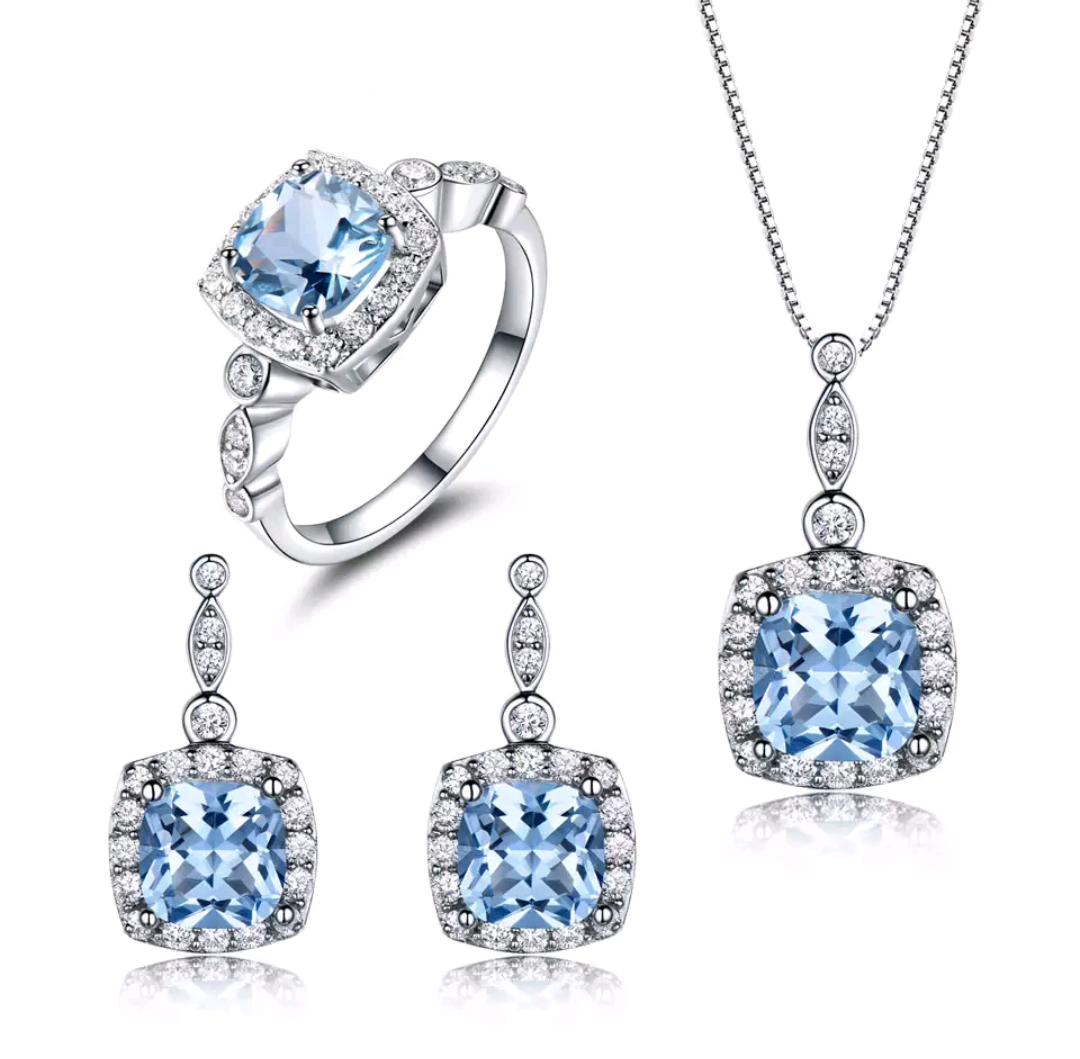 Lab Created Blue Topaz Jewelry Set - Swank & Swagger