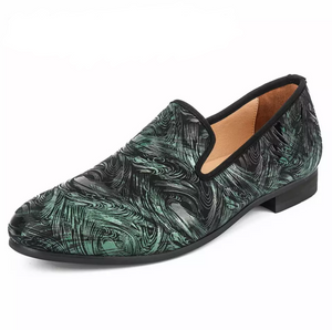 Emerald Suede Loafers - Swank & Swagger