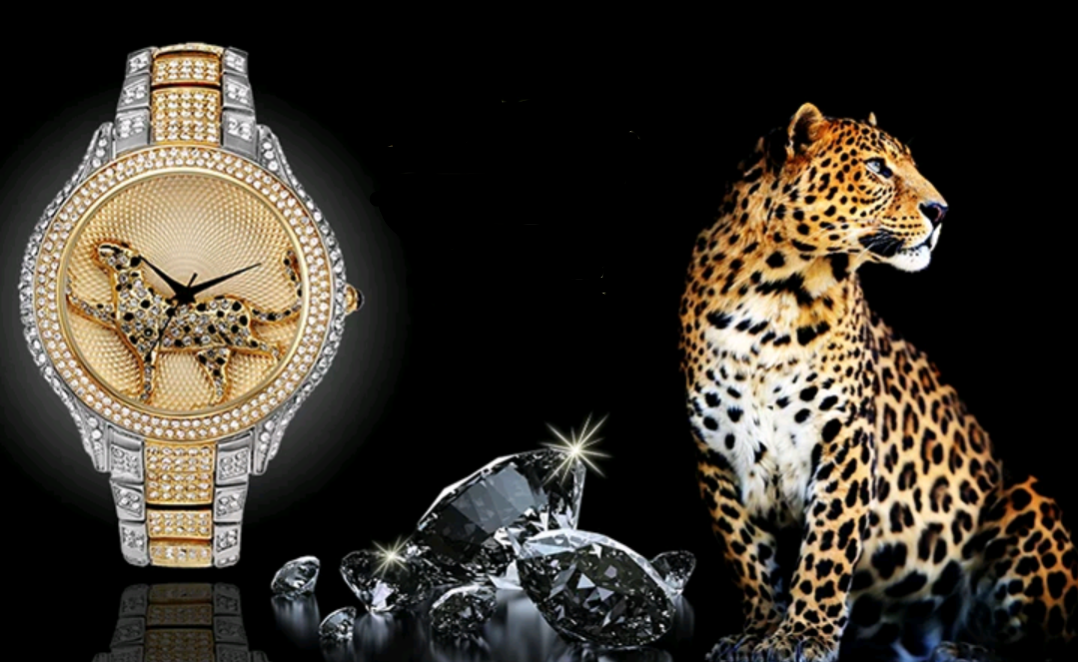 18K Gold Luxury Panther Watch - Swank & Swagger