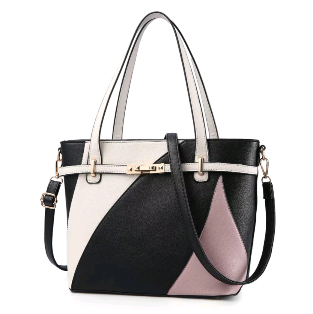 Patchwork Design Vegan Leather Handbag - Swank & Swagger