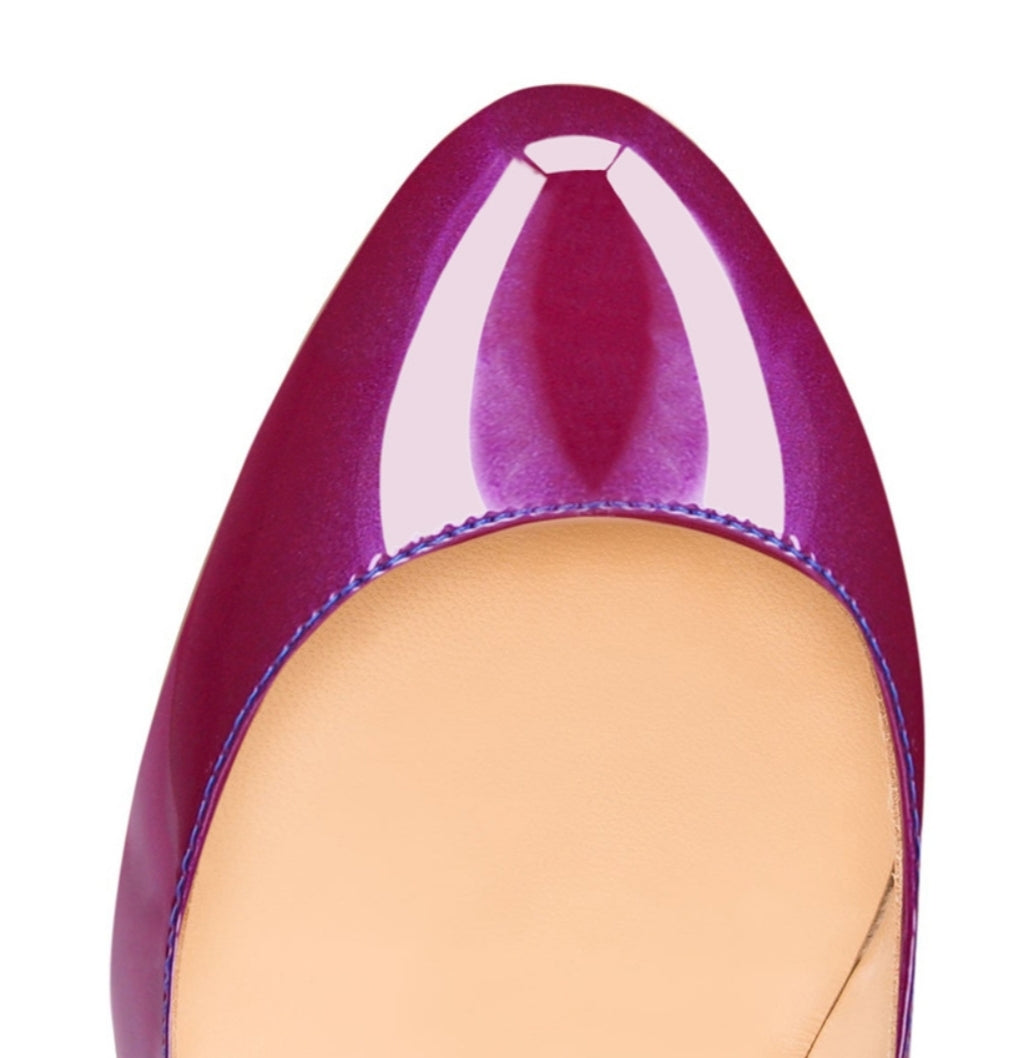 Gradient Patent Leather Pumps - Swank & Swagger