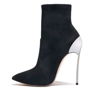 Metal Heel Stiletto Ankle Boots - Swank & Swagger