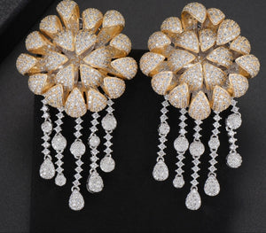 Blooming Flower Drop Earrings - Swank & Swagger