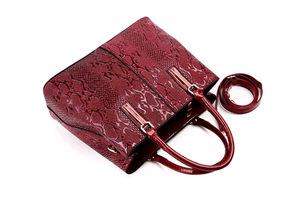Python Embossed Fashion Handbag - Swank & Swagger