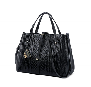 Genuine Leather Python Embossed Handbag - Swank & Swagger