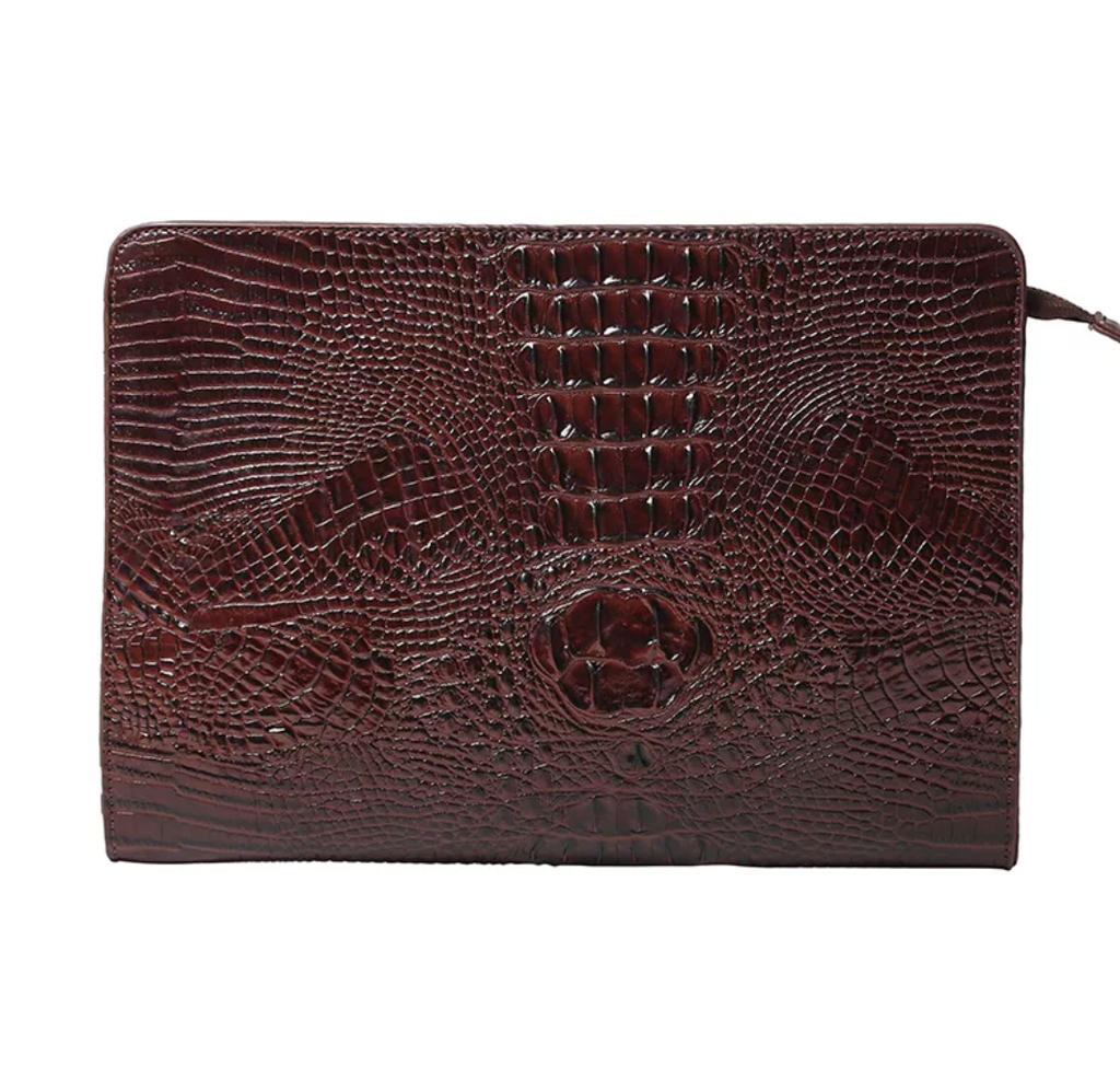 Crocodile Embossed Executive Clutch - Swank & Swagger