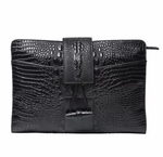 Crocodile Embossed Day Clutch - Swank & Swagger