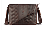 Genuine Leather Crocodile Briefcase Messenger Bag - Swank & Swagger