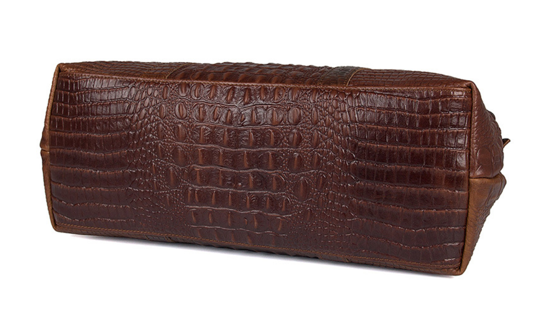 Top Quality Genuine Leather Crocodile Weekender Bag - Swank & Swagger