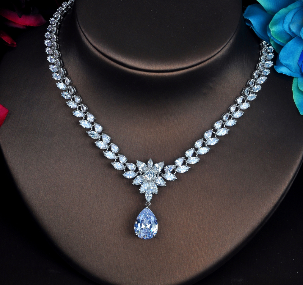 Exquisite 4 Piece CZ Platinum Jewelry Set - Swank & Swagger