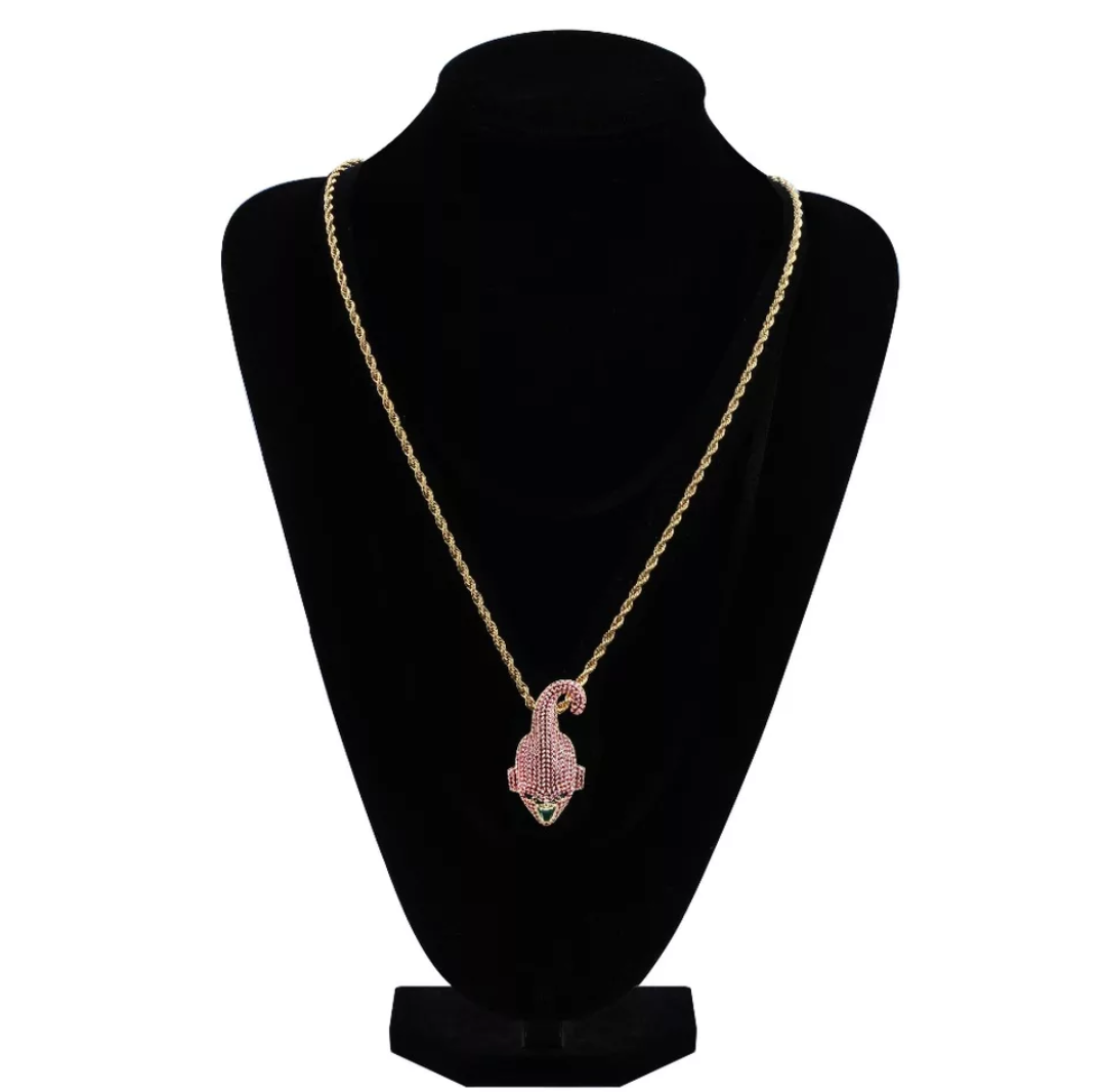 Iced Out Majin Buu Pendant Necklace - Swank & Swagger