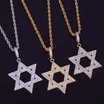 Iced Out Star of David Pendant Necklace - Swank & Swagger