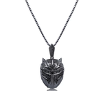 Iced Out Black Mask Pendant Necklace - Swank & Swagger