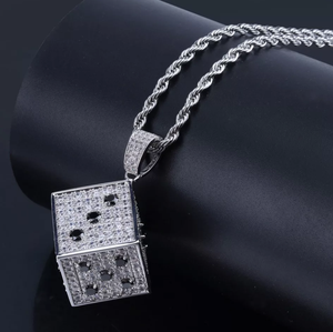 Lucky Iced Out Dice Necklace - Swank & Swagger