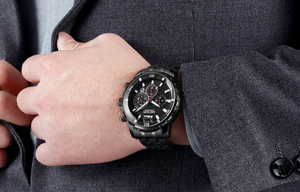 Steel Analogue Chronograph Quartz Wristwatch - Swank & Swagger