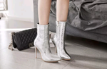 Women's Retro Metallic Ankle Boots - Swank & Swagger