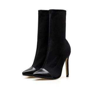 Women's Sexy Sock High Heel Boots - Swank & Swagger