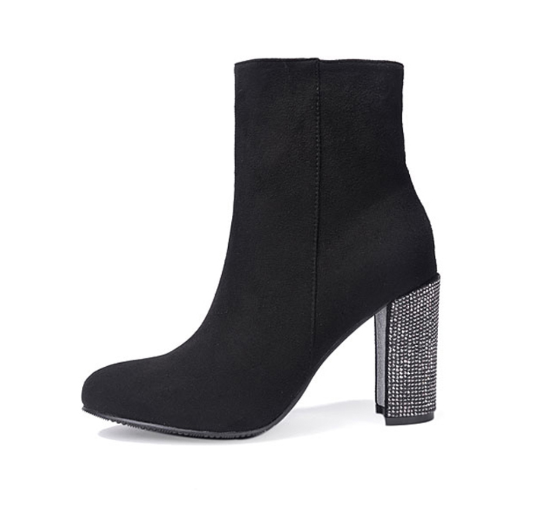 Women's Crystal High Heel Ankle Boots - Swank & Swagger