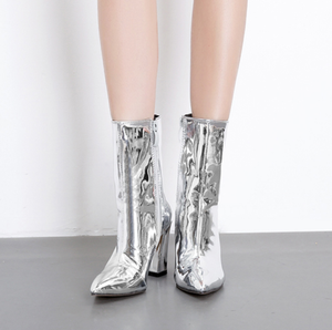 Women's Patent Leather Ankle Boots - Swank & Swagger