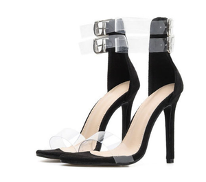 Women's Transparent Gladiator Sandals - Swank & Swagger