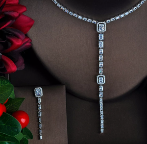 Chic CZ Platinum Jewelry Set - Swank & Swagger