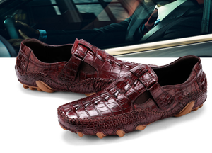 Men's Crocodile Genuine Leather Loafers - Swank & Swagger