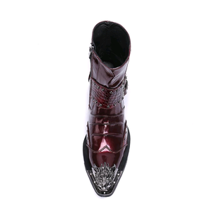 Luxury Patent Leather Motorcycle Boots - Swank & Swagger