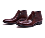 Luxury Alligator Embossed Leather Boots - Swank & Swagger
