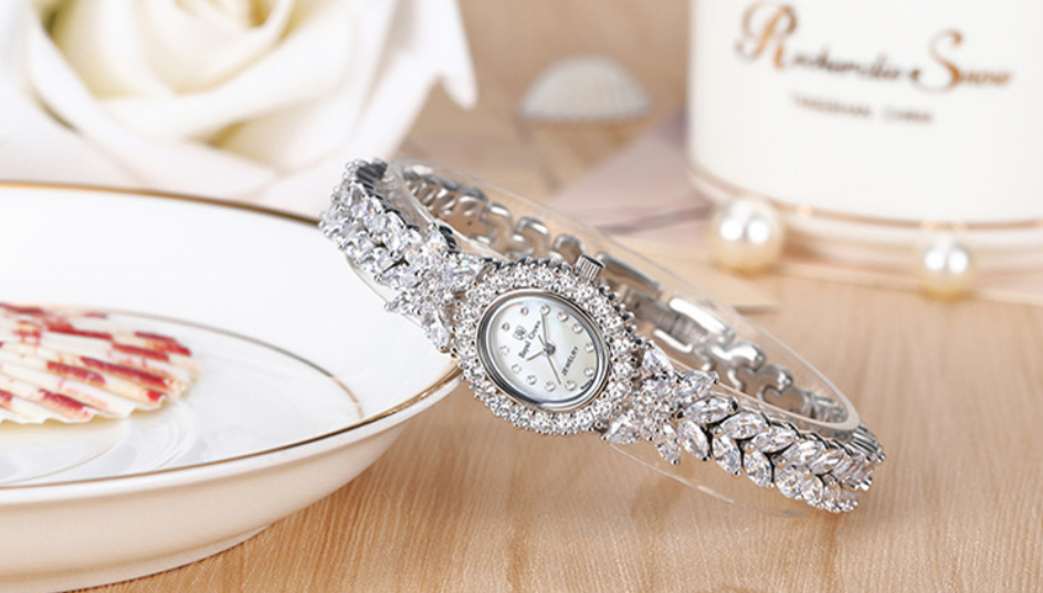 Classic Elegance CZ Mother of Pearl Watch - Swank & Swagger