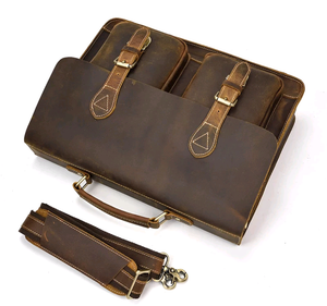 Genuine Leather Executive Briefcase - Swank & Swagger
