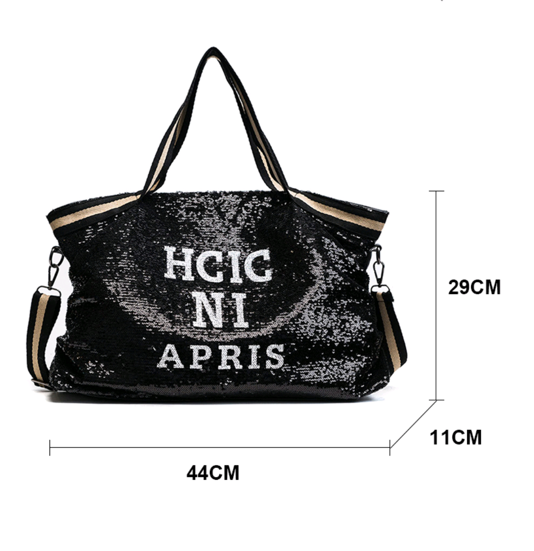 Spacious Sequin Fashion Handbag - Swank & Swagger
