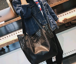 Riveted Oversized Fashion Handbag - Swank & Swagger