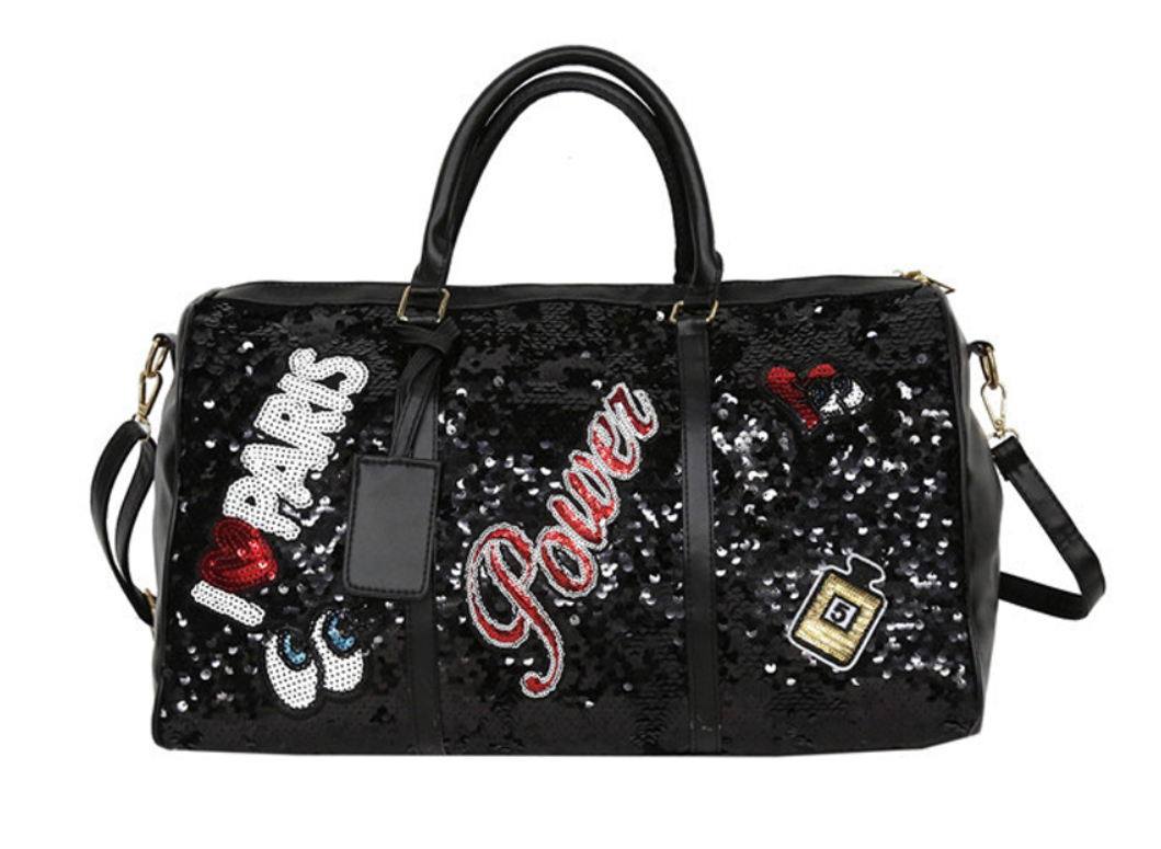 Sporty Chic Sequin Fashion Fitness Travel Bag - Swank & Swagger