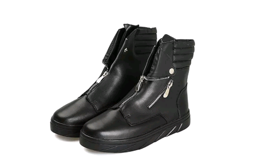 High Top Street Zipper Boots - Swank & Swagger