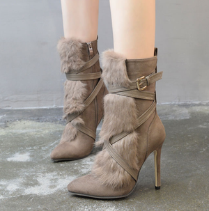 Women's Faux Fur Suede Boots - Swank & Swagger